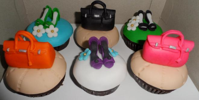 Cute Birkins and Shoes Cupcakes by Vittoria Patisserie! <3